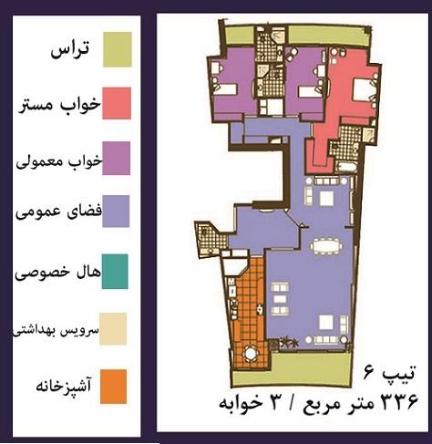 فرشته : فروش ( پیش فروش )  آپارتمان 336 متری فوق العاده مدرن در خیابان فرشته تهران